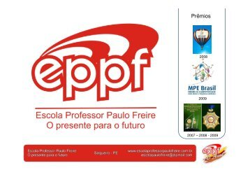 """""""Gestão na Educação - Aprovada!"""" - Escola Professor Paulo Freire"""