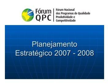 (Microsoft PowerPoint - Planejamento Estrat\351gico - F\363rum ...