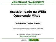 Acessibilidade na WEB: quebrando mitos. Palestrante João ... - Faders