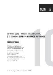 Informe 2010 – Anistia Internacional - Ministério Público do Estado ...