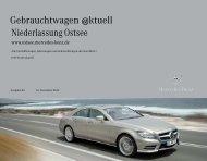 Gebrauchtwagen @ktuell - Mercedes-Benz Niederlassung Ostsee