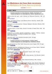 CULTURA JAPONESA LLIBRES / LIBROS - Introducció ... - Casa Asia