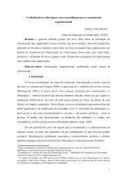 A tribalização no ciberespaço: novos paradigmas ... - WordPress.com