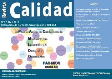 Nº 27 Abril 2012 Delegación de Personal, Organización y Calidad ...