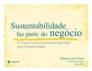 Sustentabilidade nos negócios - Movimento Brasil Competitivo