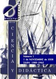 Revista Ciencia y Didáctica nº 1 - enfoqueseducativos.es