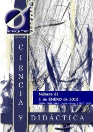 Revista Ciencia y Didáctica nº 61 - enfoqueseducativos.es