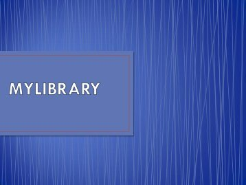 What is MyLibrary? - UiTM Library