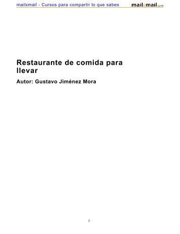 Restaurante de comida para llevar - MailxMail
