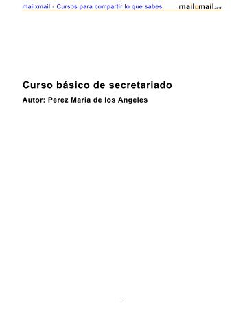 Curso básico de secretariado - MailxMail