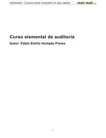 Curso elemental de auditoría - MailxMail