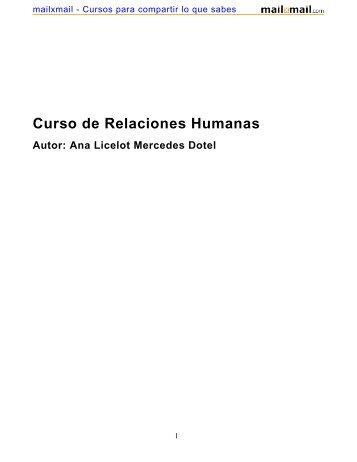 Curso de Relaciones Humanas Autor: Ana Licelot ... - MailxMail