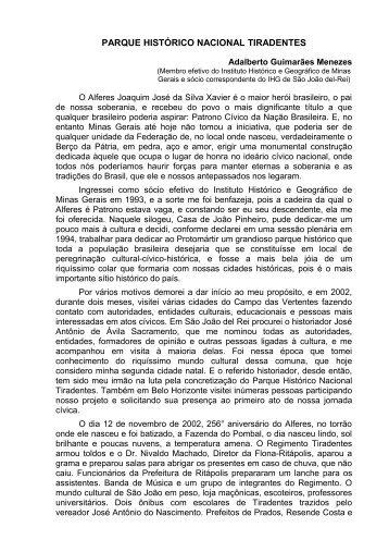 parque histórico nacional tiradentes - instituto histórico e geográfico ...