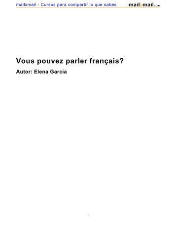 Vous pouvez parler français? Autor: Elena García - MailxMail