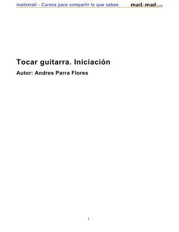 Tocar guitarra. Iniciación - MailxMail