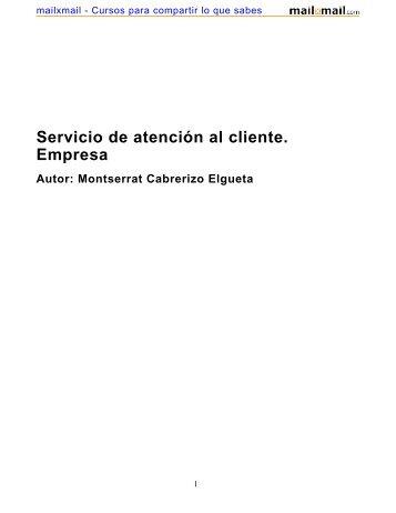 Servicio de atención al cliente. Empresa - MailxMail