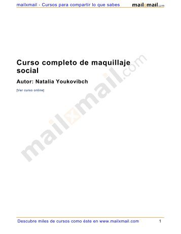 Curso completo de maquillaje social Autor: Natalia ... - MailxMail