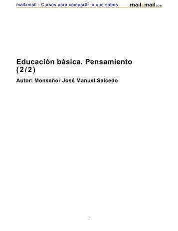 Educación básica. Pensamiento (2/2) - MailxMail