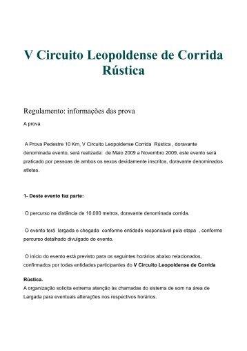 Regulamento Circuito 2009