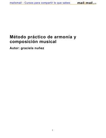 Método práctico de armonía y composición musical Autor - MailxMail