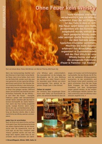 Ohne Feuer kein Whisky - Birseck Magazin
