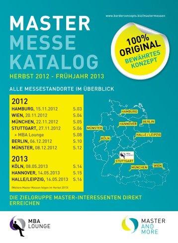 master messe katalog - border concepts