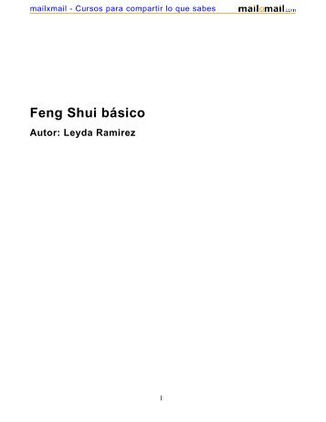 Feng Shui básico - MailxMail