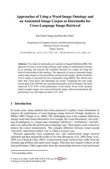 Approaches of Using a Word-Image Ontology and an Annotated ...