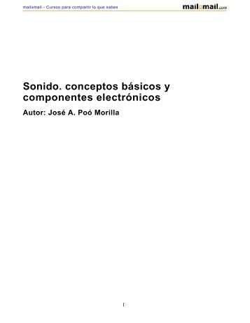 Sonido. conceptos básicos y componentes electrónicos - MailxMail