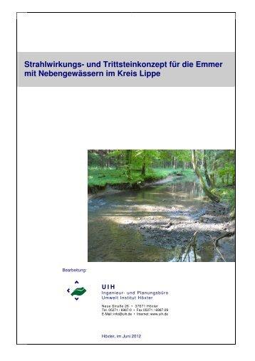 Strahlwirkungs- und Trittsteinkonzept für die Emmer mit - Kreis Lippe