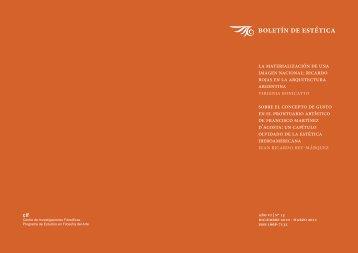 Texto completo en formato PDF - Boletín  de Estética