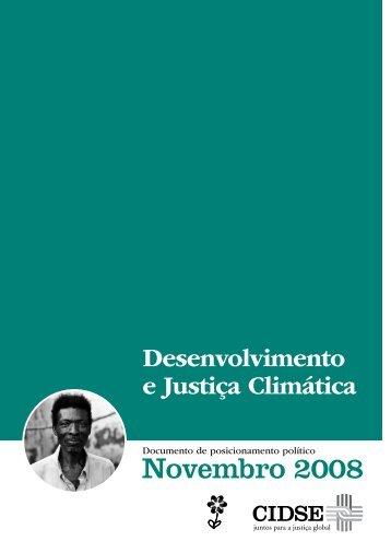 documento da CIDSE sobre alterações climáticas e ... - FEC