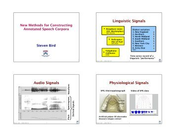 Linguistic Signals Audio Signals Physiological ... - Current Projects