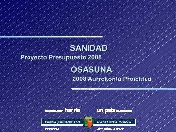 SANIDAD OSASUNA - Acta Sanitaria
