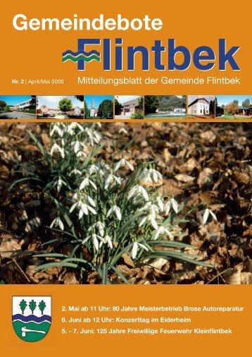Gemeindebote 2. Mai Ab 11 Uhr: 90 Jahre - Gemeinde Flintbek