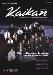 Nº 36 – Agosto - Asociación Peruano Japonesa