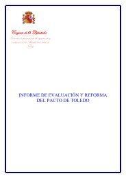 informe de evaluación y reforma del Pacto de Toledo - Congreso de ...