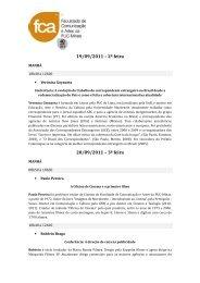 palestras - Faculdade de Comunicação e Artes - PUC Minas