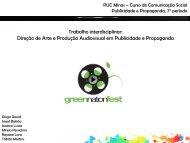 Trabalho interdisciplinar: Direção de Arte e Produção ... - PUC Minas