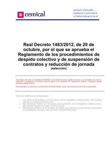 Real Decreto 1483/2012, de 29 de octubre, por el que se ... - cemical