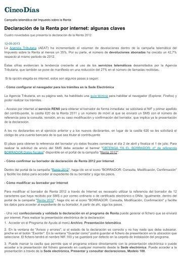 Declaración de la Renta por internet: algunas claves - cemical