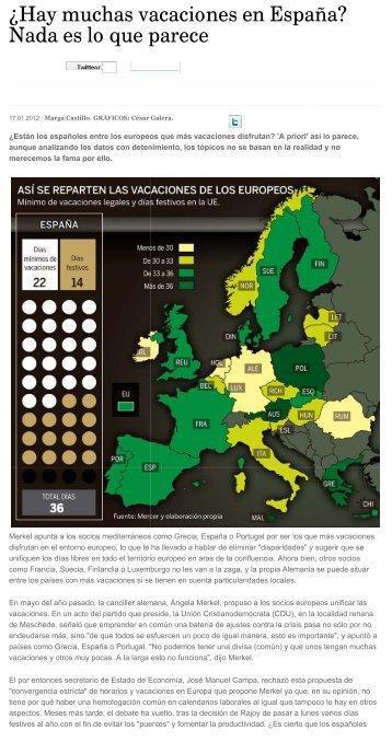 ¿Hay muchas vacaciones en España? Nada es lo que ... - cemical