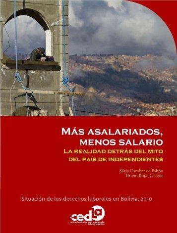 El trabajo asalariado urbano en Bolivia 2010 - Cedla