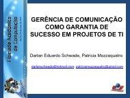 Gerência de comunicação em projetos de TI - Ctec.unicruz.edu.br