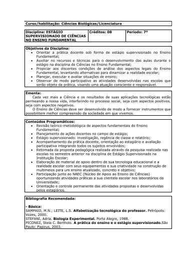 ESTÁGIO SUPERVISIONADO DE CIÊNCIAS NO ENSINO ... - Unicruz