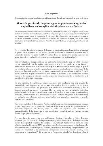 NP Informe Quinua.pdf - Cedla