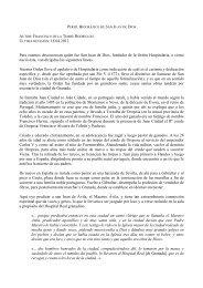 Perfil Biográfico de San Juan de Dios - Inicio - San Juan de Dios