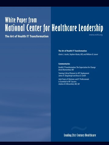Leading 21st Century Healthcare White Paper from National Center