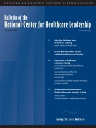 2005 - National Center for Healthcare Leadership