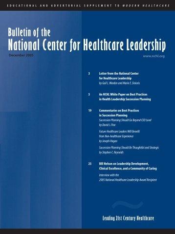 2005 - National Center for Healthcare Leadership